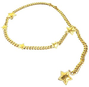 St. John St. John Gold Chain Link Star Hip Waist Belt
