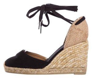 Castañer Black & Tan Wedges