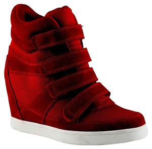 ALDO Sneakerwedge Sneaker Sneaker Wedge Wedge Suede red Pumps