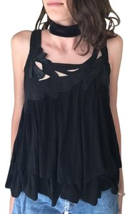 Topshop Edgy Black Flirty Top