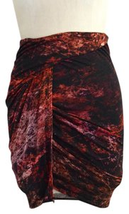 Helmut Lang Pencil Mini Skirt Black & Red