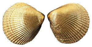 St. John St. John Gold Shell Earrings