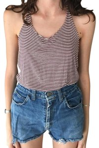 Brandy Melville Stripes Beach Red Hipster Top