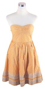 Anthropologie short dress Yellow Strapless Bandana on Tradesy