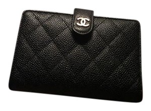 Chanel CHANEL CAVIAR L-ZIP WALLET