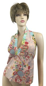 Alice & Trixie Asian print Halter Top
