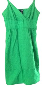 a.n.a. a new approach short dress green on Tradesy
