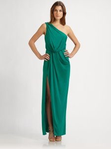 BCBGMAXAZRIA Bcbg Side Slit One Emerald Dress