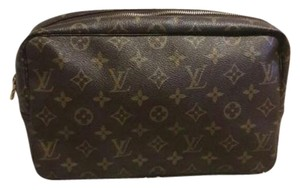 Louis Vuitton Makeup Toiletry Vintage Louis Brown Clutch