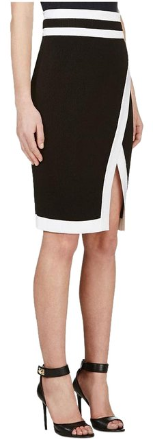 Balmain Black/White Knit Mesh Pencil Skirt Size 8 (M, 29, 30) Balmain Black/White Knit Mesh Pencil Skirt Size 8 (M, 29, 30) Image 1