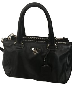 Prada Leather Black Satchel in Balck
