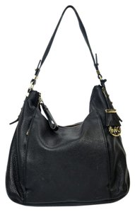 Michael Kors Mk Hang Tag Leather Full Zip Top Lined Hobo Shoulder Bag