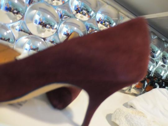 Manolo Blahnik Burgundy suede Pumps