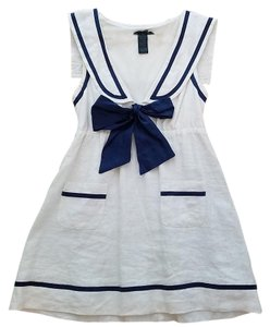 Forever 21 short dress White Nautical Sailor Boat American on Tradesy