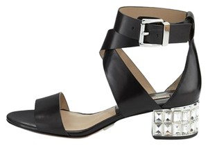 Michael Kors Bling Crystal Diamond Nikki Date Night Black Sandals