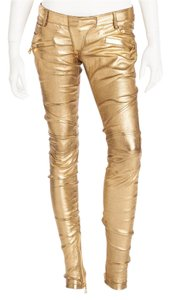 Balmain Leather Skinny Jeans