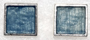 Other Minimal Post Back Closure Square Dolly Pewter Earrings