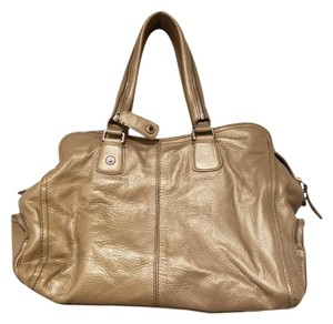 Givenchy Leather Satchel in Metallic _ Silver