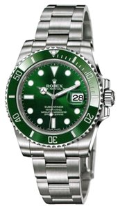 Rolex Rolex New Style Pre Owned Submariner Steel Green Dial 40mm