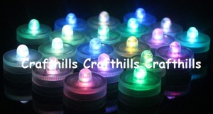20 Bright Rgb (color Changing) Led Floral Candle Tea Light Submersible Floralyte Party Home
