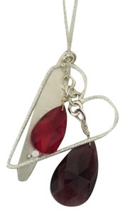 Nordstrom Silver Heart and Stone Pendent