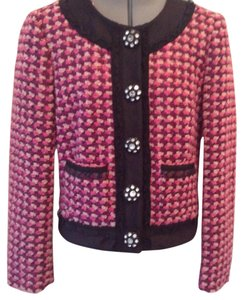 J.Crew Pink and black Blazer