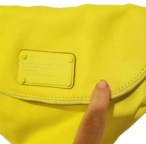 Marc Jacobs Neon Yellow Leather Cross Body Bag