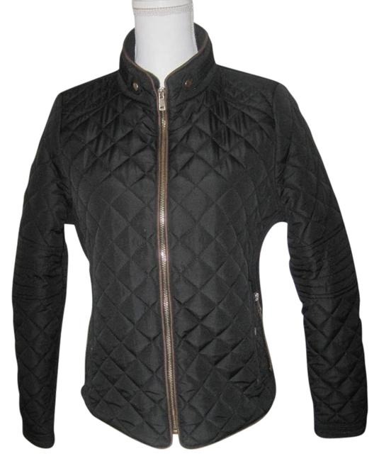 Item - Black Quilted Juniors Lightweight Jacket Size 8 (M)