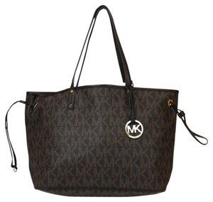 Michael Kors Monogram Tote in Brown
