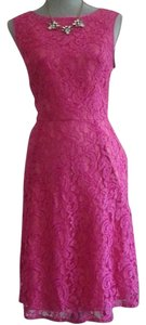 Adrianna Papell Lace Two-tone Fit N Flare Dress