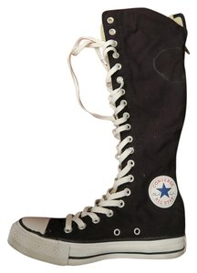 Converse black and white Boots
