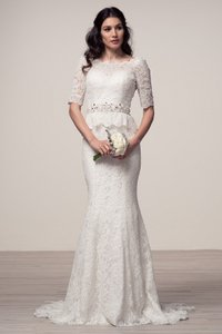 Bicici & Coty Bicici 3/4 Sleeve Mermaid Style Wedding Dress Wedding Dress