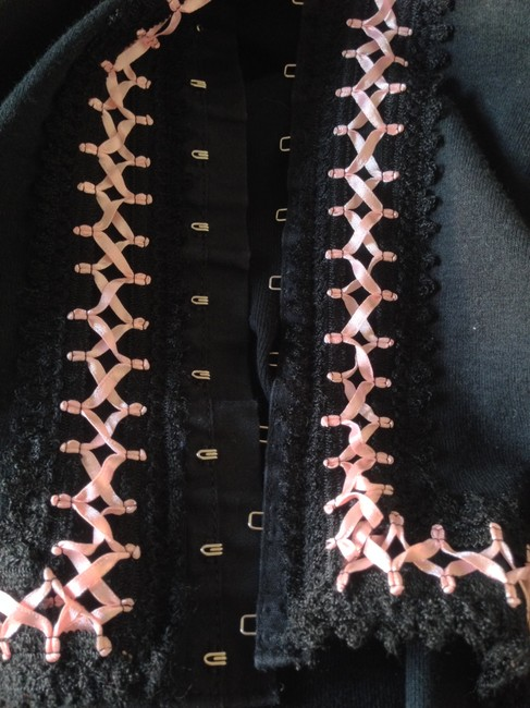 Anna Sui Ribbon Trimmed Fitted Cardigan