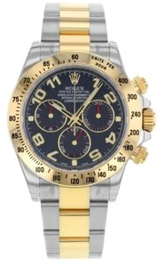 Rolex Rolex New Style Pre Owned Daytona Steel and Yellow Gold Blue Dial 40mm
