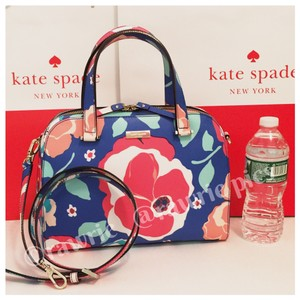 Kate Spade Structured Flowers Colorful Strap Zip Top Cross Body Bag