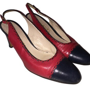 Chanel Red/Navy Pumps