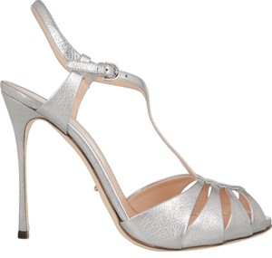 Sergio Rossi Stiletto Sandal Silver Formal