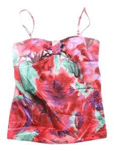 Ann Taylor LOFT Convertible Strapless Shirt Blouse Top Multi-Color