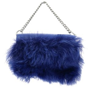 Marc Jacobs Fur Marc By Phone Mj Blue Clutch