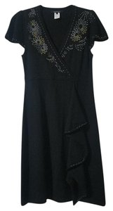 Nanette Lepore Merino Wool Beaded Dress