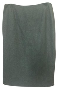 Tocca Pencil Wool Skirt Dusty blue