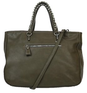 Carlos by Carlos Santana Leather Satchel in Olive