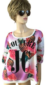 Juicy Couture Pineapple & Watermelon print with Mesh sleeves