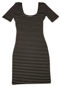 American Apparel short dress Black and white on Tradesy