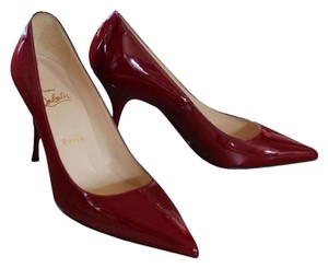 Christian Louboutin Patent Patent Leather Pointed Toe Red Pumps