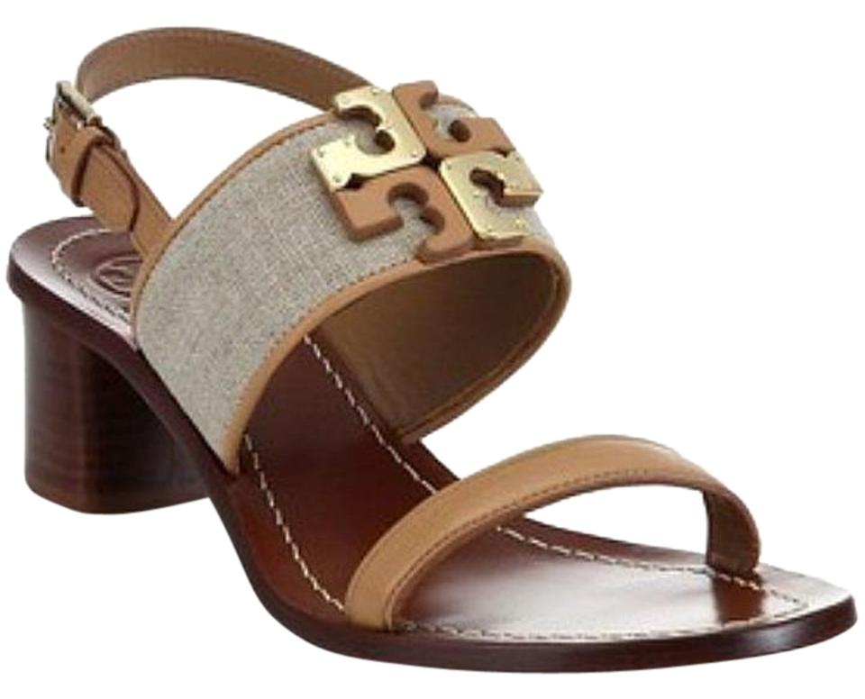 dd13c8fa2 Tory Burch Natural Blush In Box Lowell Leather 45mm Heel Sandals ...