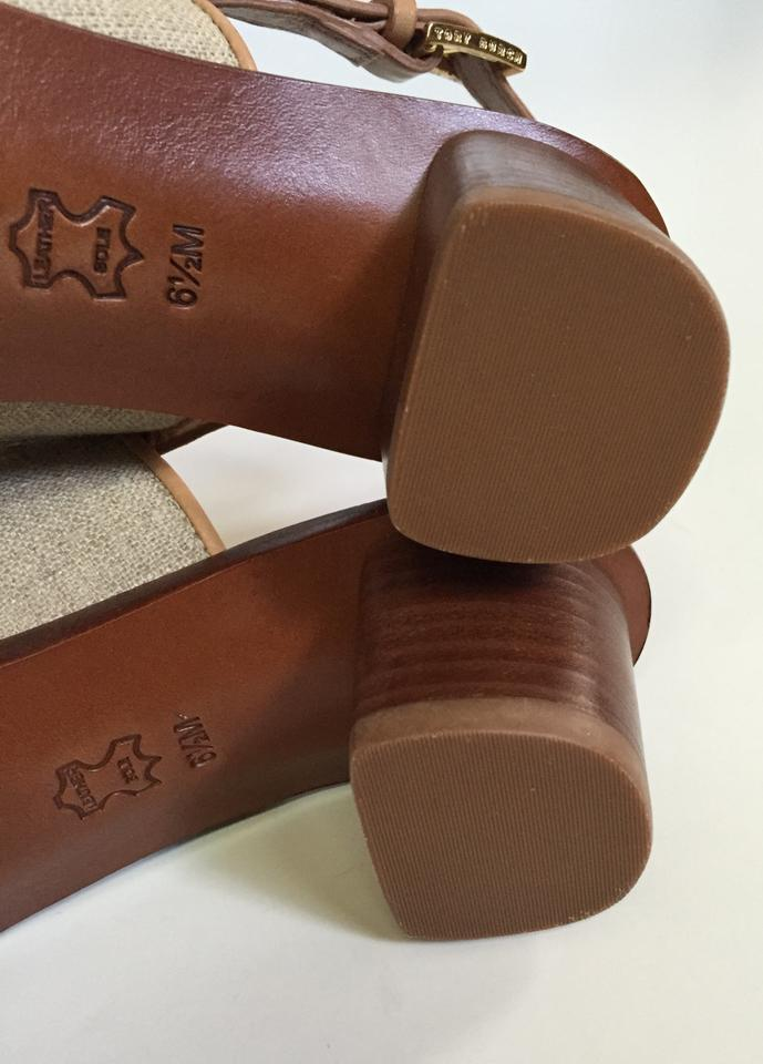 773915b687d9 Tory Burch Natural Blush In Box Lowell Leather 45mm Heel Sandals ...