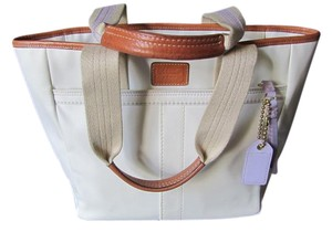 Coach Tote in Creamy White/Tan/lilac