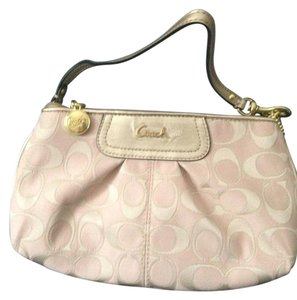 Coach Wristlet in Blush/Gold