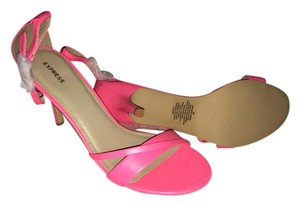 Express Stilettos Heels Pink Sandals